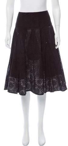 Derek Lam Embroidered A-Line Skirt