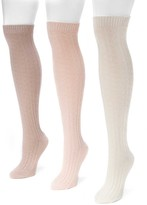 Muk Luks Cable Knit Knee High Sock - Pack of 3