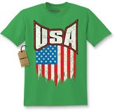 Expression Tees Kids Distressed USA Flag T-Shirt