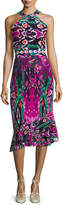 Saloni Ruby High-Neck Midi Dress, Multicolor