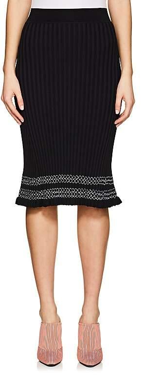 Altuzarra Women's Gwendolyn Contrast-Stitched Rib-Knit Skirt