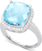 Victoria Townsend Blue Topaz (6 ct. t.w.) and Diamond (1/10 ct. t.w.) Ring in Sterling Silver