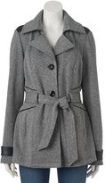 Juniors' IZ Byer California Button-Down Fleece Jacket