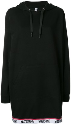 Moschino Logo Trim Sweatshirt Dress