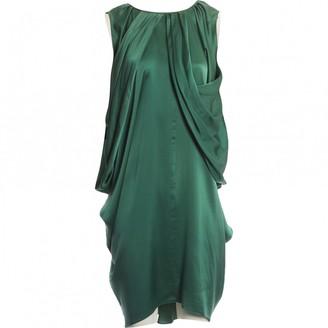 Saint Laurent Green Silk Dress for Women