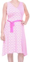 Tommy Hilfiger Womens Printed Asymmetrical Casual Dress S