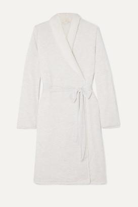 Eberjey Aspen Fleece-lined Modal-jersey Robe - Gray