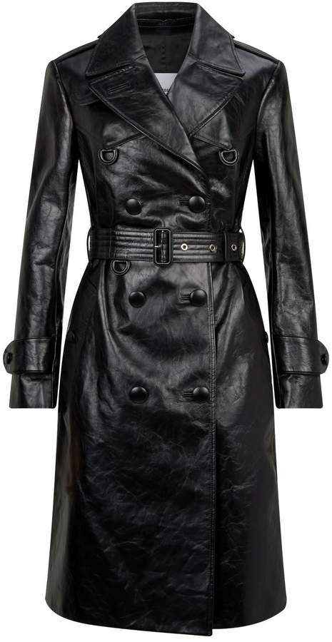 50f8dd892 Belted Leather Trench Coat