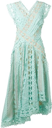 Zimmermann Embroidered Flared Midi Dress