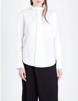 Y's YS Raw-edged cotton-poplin shirt