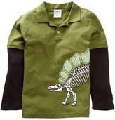 Mulberribush Dino Skeleton Twofer Polo (Big Boys)