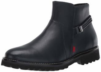 Marc Joseph New York Women's Leather EVA Lightweight Technology Columbus Circle with Braid Detail Ankle Boot