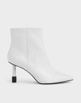 Charles & Keith Stiletto Heel Ankle Boots