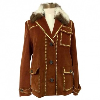 Prada Brown Velvet Coat for Women