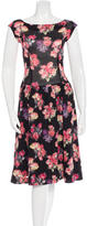 Miu Miu Floral Print Midi Dress