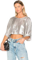 Golden Goose Deluxe Brand Cropped T-Shirt in Metallic Silver. - size M (also in S)