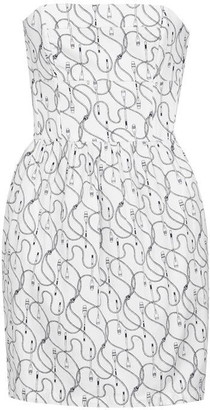 Jack Wills Didworthy Oar Print Bandeau Dress