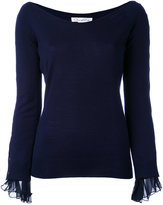 Oscar de la Renta knitted top - women - Silk/Virgin Wool - M