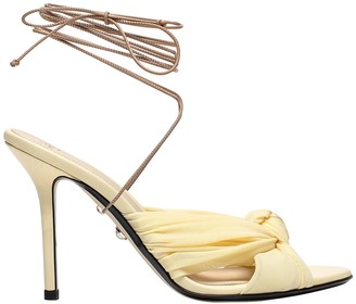 ALEVÌ Milano Yellow Dora Leather Sandal