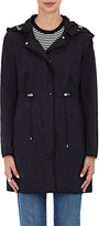 Moncler Women's Grosgrain-Trimmed Hooded Coat