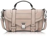Proenza Schouler PS1 + Tiny Sand Leather Flap Handbag