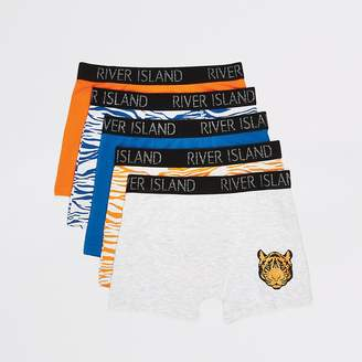 River Island Boys yellow tiger printed boxers 5 pack