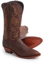 "Justin Boots Bordo Moro Buffalo Cowboy Boots - 13"", J-Toe (For Men)"