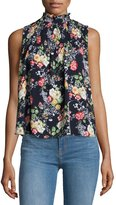 Romeo & Juliet Couture Mock-Neck Floral-Print Top, Multi