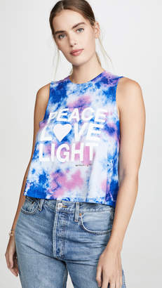Spiritual Gangster Peace Fun Dye Crop Tank