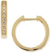 Jude Frances 18k Yellow Gold Camelia Huggie Hoop Earrings with Diamonds, 16mm