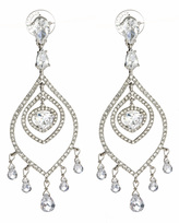 Crystal Feather Chandelier Earrings