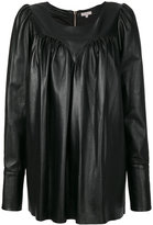 Natasha Zinko babydoll top - women - Leather/Acetate/Cupro - 34