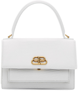 Balenciaga White XS Sharp Satchel Bag