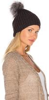 Jocelyn Silver Fox Pom Knit Hat