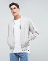 Celio Bomber In Linen Mix Fabric