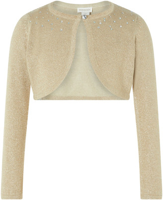 Under Armour Niamh Crystal Knitted Cardigan Gold