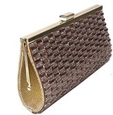 staychicfashion Sparkly Rhinestones Beaded Evening Clutch Hardbox Party Dinner Purse Bag