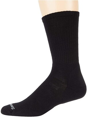 Smartwool Athletic Light Elite Crew 2-Pack (Black) Crew Cut Socks Shoes