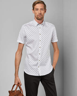 Ted Baker LLIAMTT Tall cotton geo print shirt