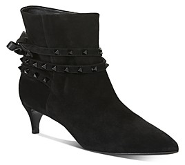 Valentino Women's Studded Strap Kitten-Heel Booties
