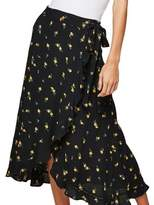 Miss Selfridge Floral Wrap Midi Skirt