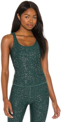 Beyond Yoga Alloy Sparkle Keep it Simple Cropped Tank