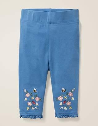 Boden Floral Embroidered Leggings