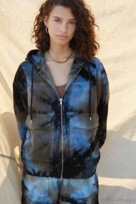 BDG Corduroy Tie-Dye Skate Jacket - Black XS at Urban Outfitters