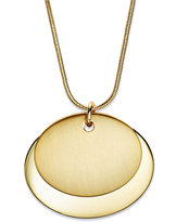 Charter Club Gold-Tone Oval Pendant Necklace