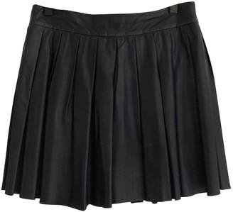 Alice + Olivia Navy Leather Skirt for Women