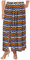 MICHAEL Michael Kors Size Ikat Pleated Maxi Skirt w/ Slit
