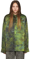 S.R. Studio. La. Ca. S.R. STUDIO. LA. CA. Green SOTO Hand-Dyed Silk Shirt