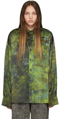 S.R. STUDIO. LA. CA. Green SOTO Hand-Dyed Silk Shirt