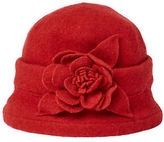 Joe Browns Women's Red Clouche Hat with Flower